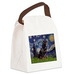 Starry/Rottweiler (#6) Canvas Lunch Bag
