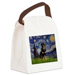 Starry Night Rottweiler Canvas Lunch Bag