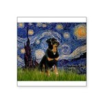 Starry Night Rottweiler Square Sticker 3