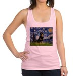 Starry Night Rottweiler Racerback Tank Top