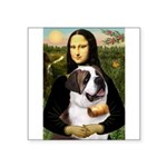 Mona / Saint Bernard Square Sticker 3
