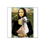 Mona Lisa (new) & Saluki Square Sticker 3