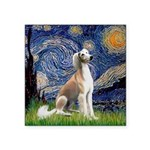 Starry Night / Saluki Square Sticker 3