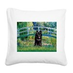 Bridge / Schipperke #4 Square Canvas Pillow