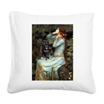 Ophelia / Schipperke #4 Square Canvas Pillow