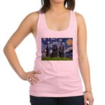 Starry Night & Schipperke Racerback Tank Top