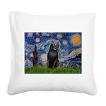 Starry / Schipperke #5 Square Canvas Pillow