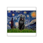 Starry / Schipperke #5 Square Sticker 3