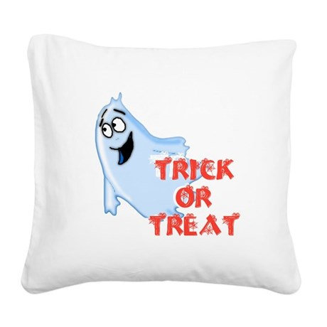 ghost4d.png Square Canvas Pillow