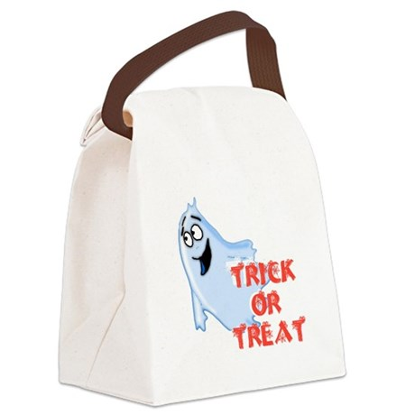 ghost4d.png Canvas Lunch Bag