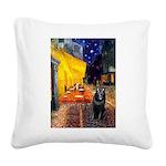 Cafe & Schipperke Square Canvas Pillow