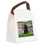 Lilies (2) & Schipperke Canvas Lunch Bag