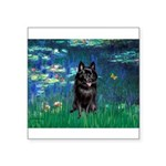 Lilies / Schipperke #4 Square Sticker 3