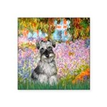 Garden / Miniature Schnauzer Square Sticker 3