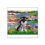 Lilies (#2)/Schnauzer Pup Square Sticker 3