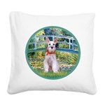 Bridge/Schnauzer #9 Square Canvas Pillow