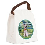 Bridge/Schnauzer #9 Canvas Lunch Bag