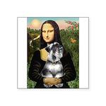 Mona Lisa's Schnauzer (#6) Square Sticker 3