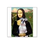Mona Lisa/Schnauzer (#2) Square Sticker 3