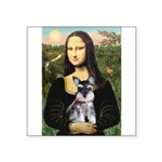 Mona Lisa's Schnauzer Puppy Square Sticker 3