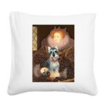 Elizabeth / Min Schnauzer Square Canvas Pillow