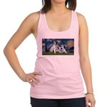 Starry Night / Min Schnauzer Racerback Tank Top