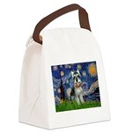 Starry Night /Schnauzer(#8) Canvas Lunch Bag