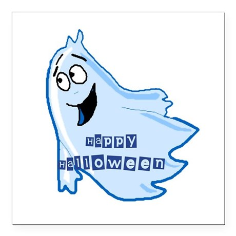 "ghost4b.png Square Car Magnet 3"" x 3"""