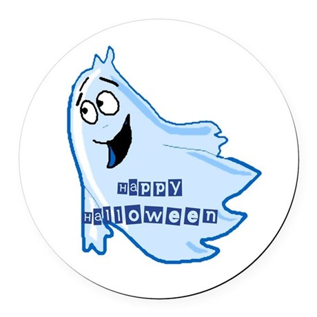 ghost4b.png Round Car Magnet