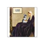 Whistler's Mother /Schnauzer Square Sticker 3
