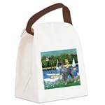 PS G. Schnauzer & Sailboats Canvas Lunch Bag