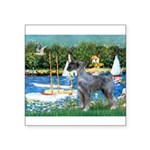 PS G. Schnauzer & Sailboats Square Sticker 3