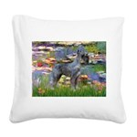 Lilies #2 & PS Giant Schnauze Square Canvas Pillow