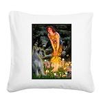Fairies / G Schnauzer Square Canvas Pillow