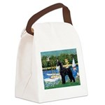 SCHNAUZER & SAILBOATS Canvas Lunch Bag
