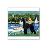 SCHNAUZER & SAILBOATS Square Sticker 3