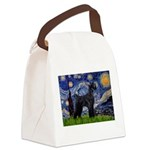 Starry Night / Schnauzer Canvas Lunch Bag
