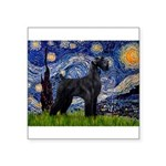 Starry Night / Schnauzer Square Sticker 3
