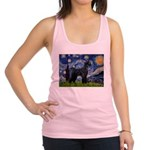 Starry Night / Schnauzer Racerback Tank Top