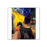 Cafe & Giant Schnauzer Square Sticker 3