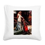 Accolade / G Schnauzer Square Canvas Pillow