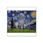 Starry /Scot Deerhound Square Sticker 3