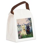 Seine / Scotties (b&w) Canvas Lunch Bag
