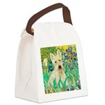 Irises / Scottie (w) Canvas Lunch Bag