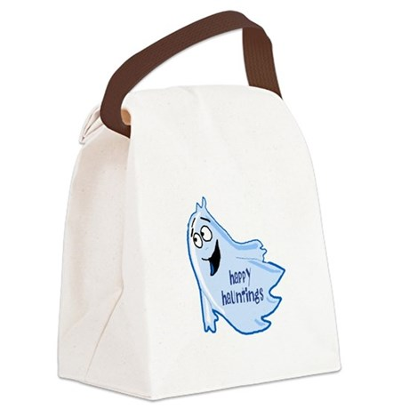ghost4a.png Canvas Lunch Bag