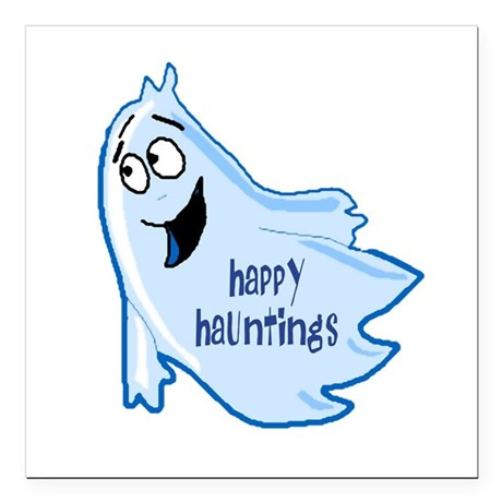 "ghost4a.png Square Car Magnet 3"" x 3"""
