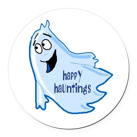 ghost4a.png Round Car Magnet
