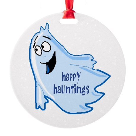 ghost4a.png Round Ornament