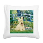 Bridge / Scottie (w) Square Canvas Pillow