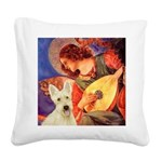 Mandolin / Scottie (w) Square Canvas Pillow